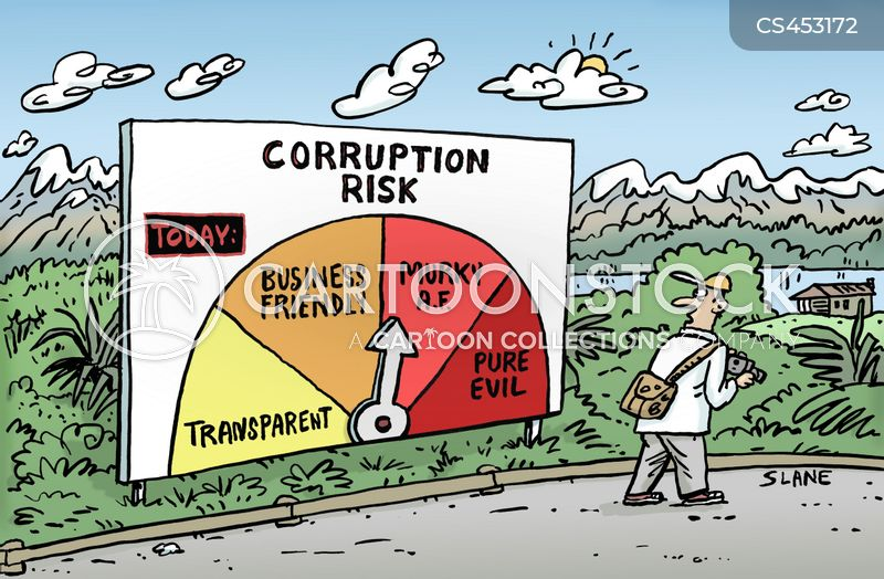 corrupt politician cartoon
