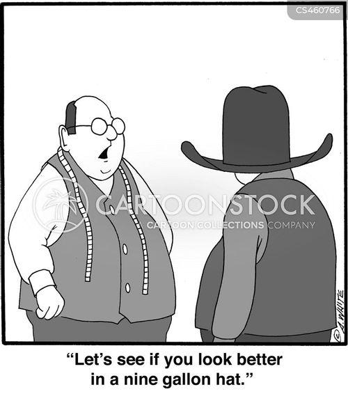 hat sizes cartoon