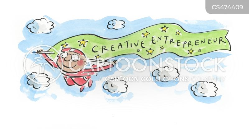 creative industry cartoon