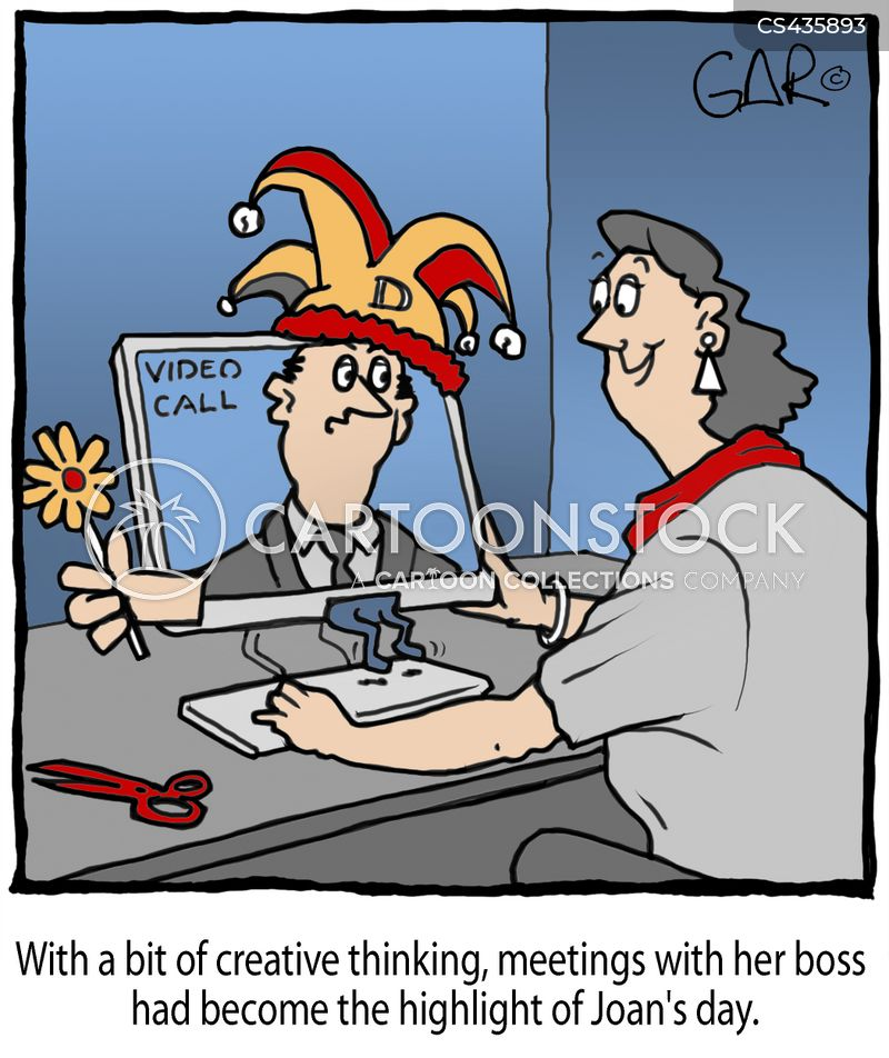 video conference cartoon