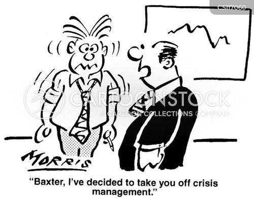 crisis management cartoon