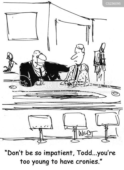 young politician cartoon