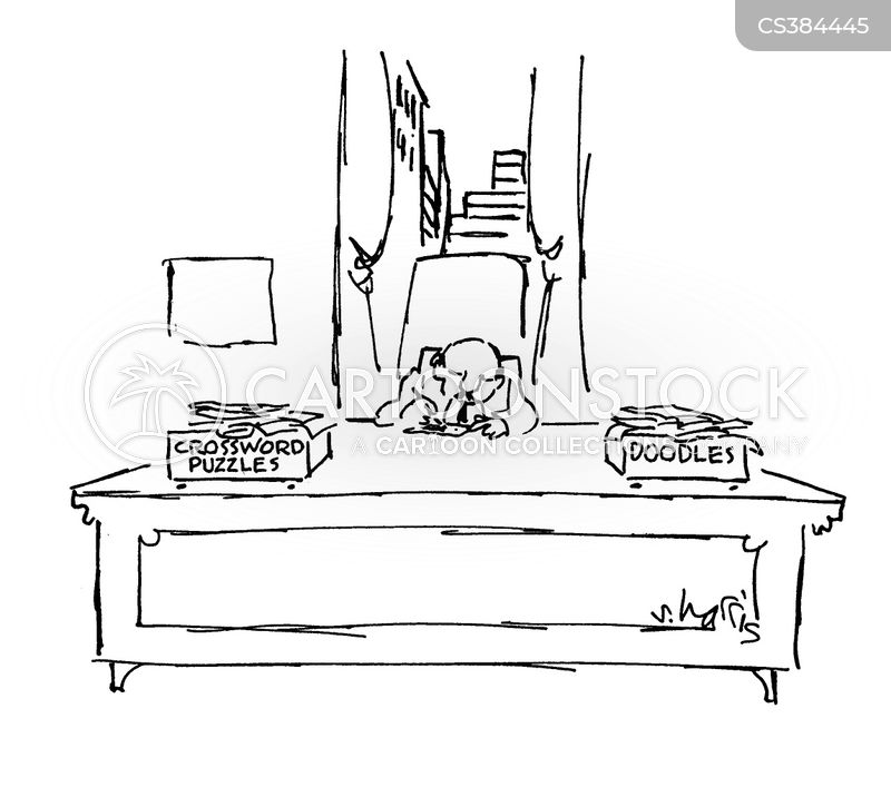 filing trays cartoon