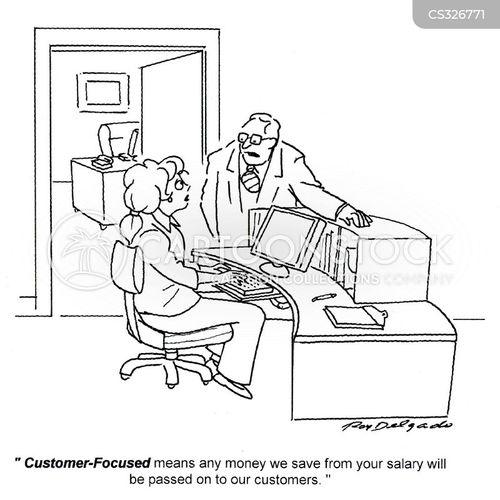 customer focused cartoon