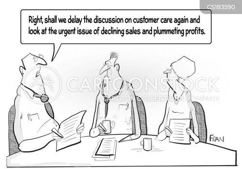 failing businesses cartoon