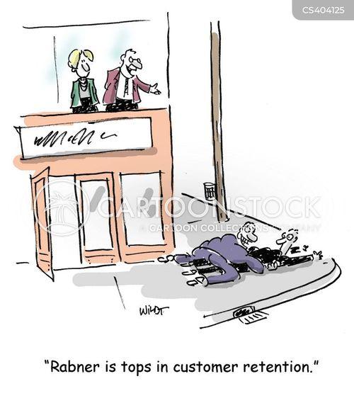 customer retention cartoon