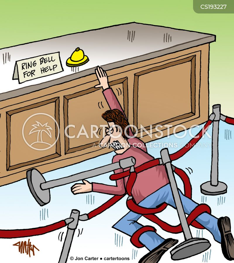 ring bell for service cartoon
