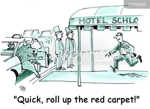 concierge cartoon
