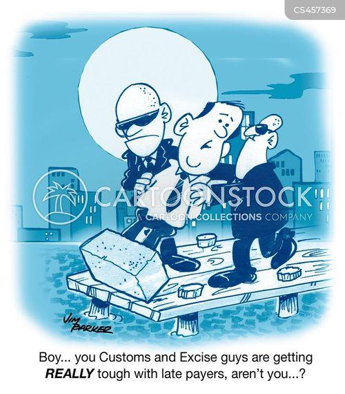 smugglers cartoon