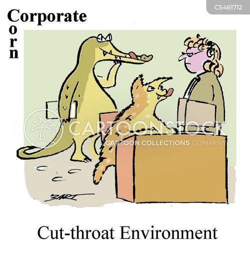 cut-throat cartoon