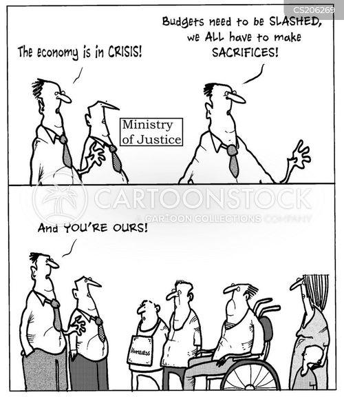 spending cut cartoon