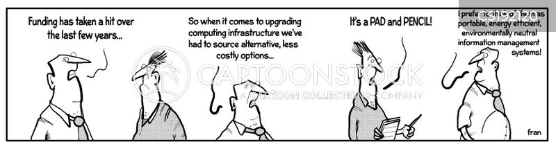 computer system cartoon