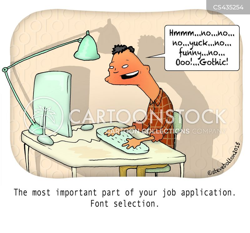 Font Selection Cartoons And Comics Funny Pictures From Cartoonstock