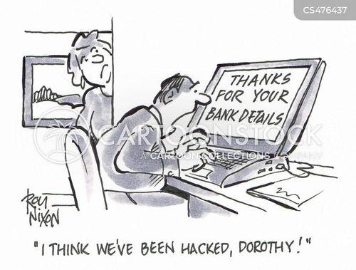 banking detail cartoon