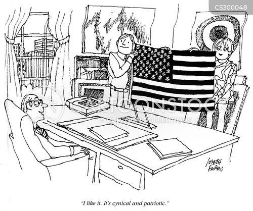 american flags cartoon