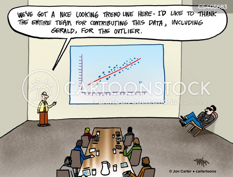 trend line cartoon