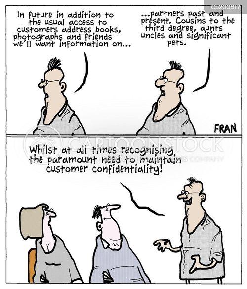 client confidentiality cartoon