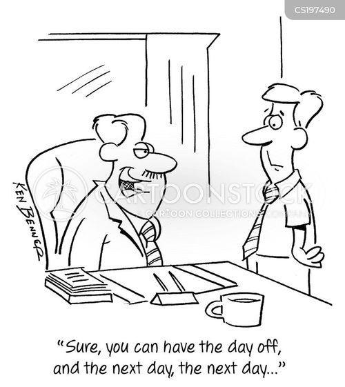 days off cartoon