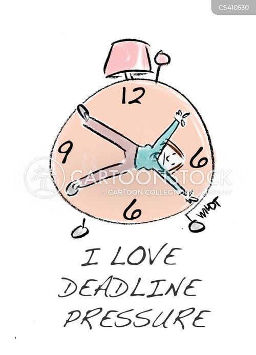 work deadline cartoon