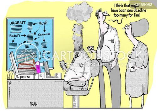 burn out cartoon