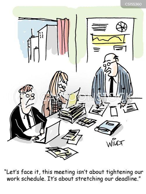 work schedules cartoon