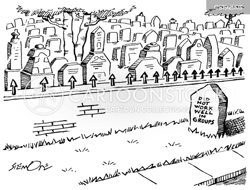 grave yard cartoon