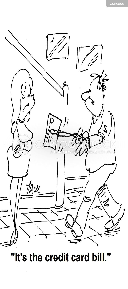 unpaid bills cartoon