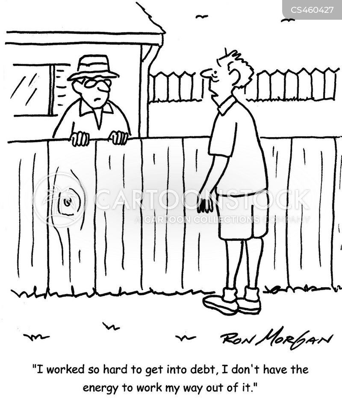 debt problems cartoon