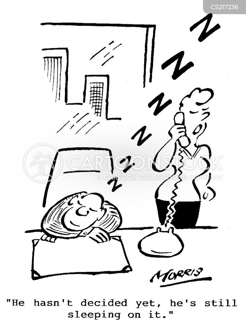 sleeping on it cartoon
