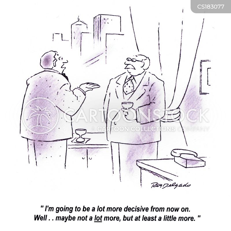 decisive cartoon