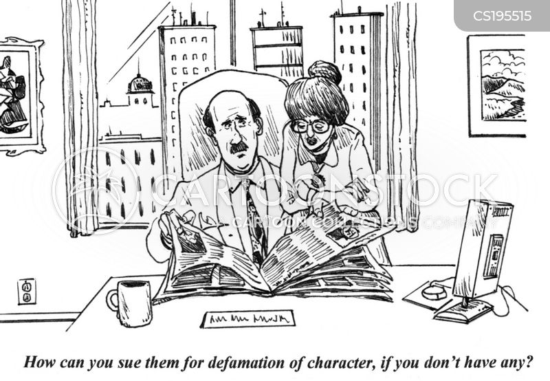 defamation cartoon