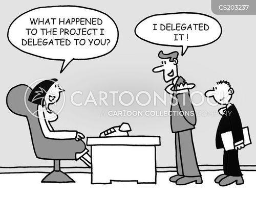 delegated cartoon