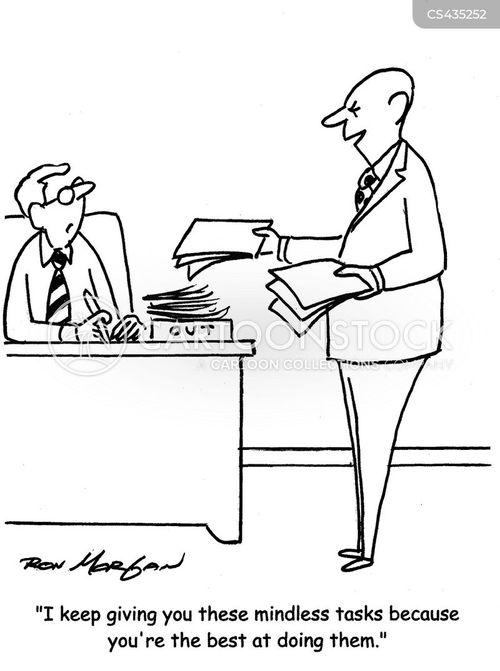 mindless task cartoon