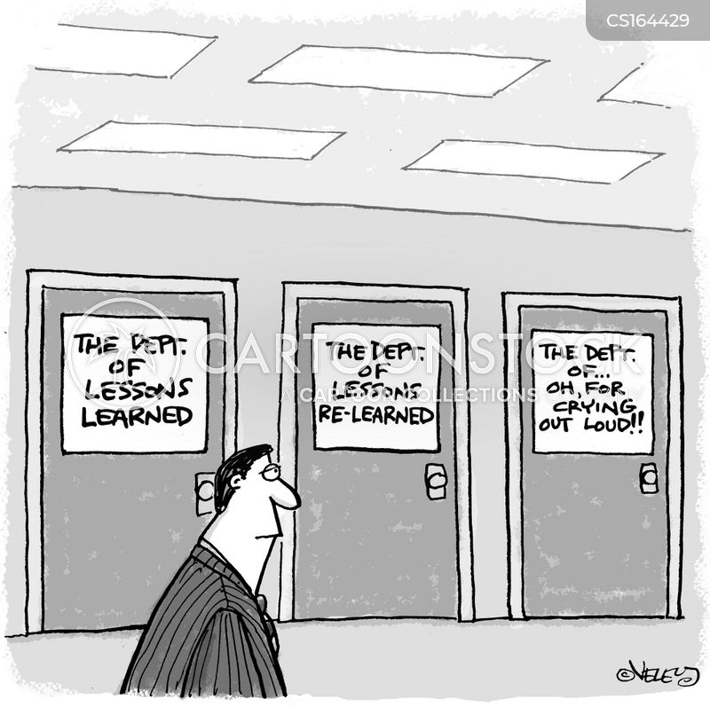department of lessons learned cartoon