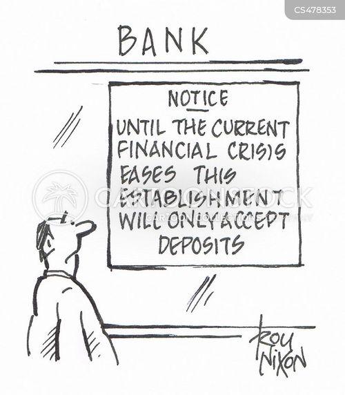 bank crises cartoon