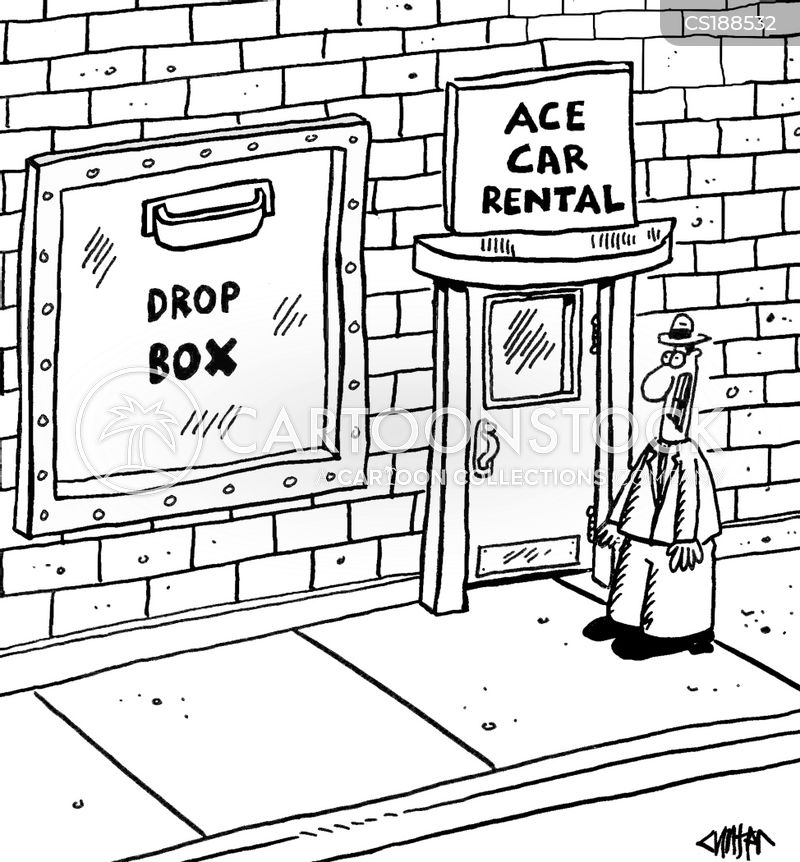 auto rentals cartoon