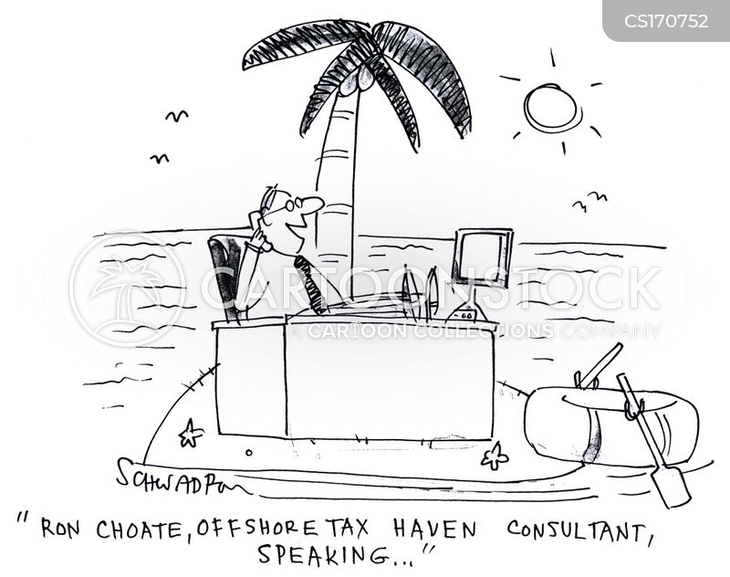 tax haven cartoon