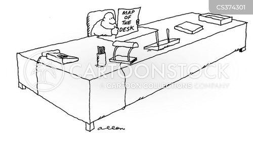 big desk cartoon