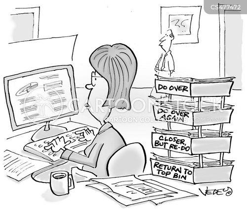 desk bin cartoon