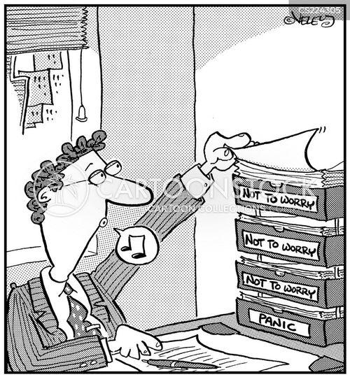 desk bins cartoon
