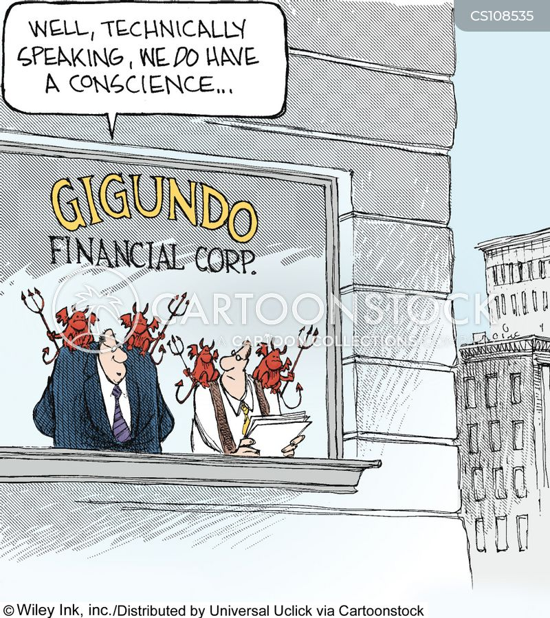 financial cartoon
