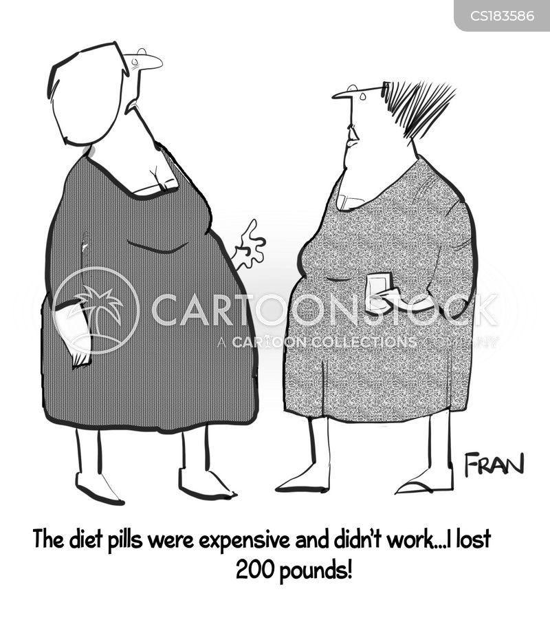 diet supplements cartoon