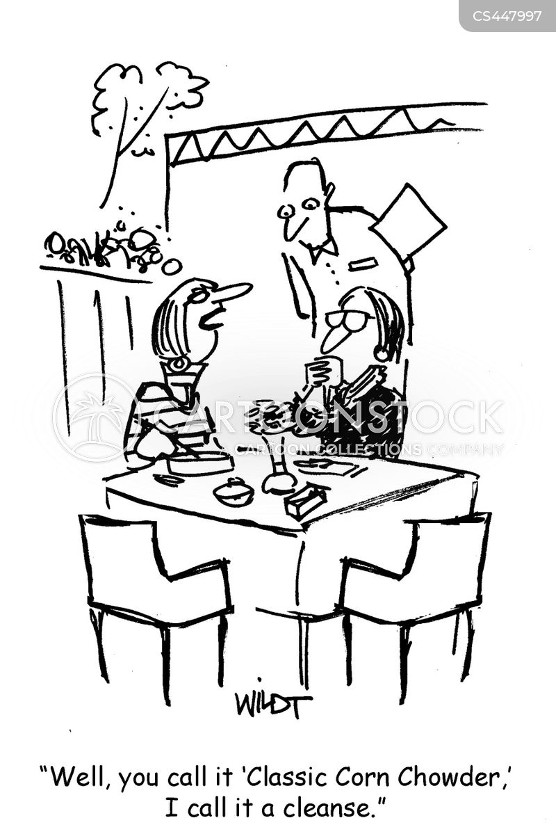 dines out cartoon