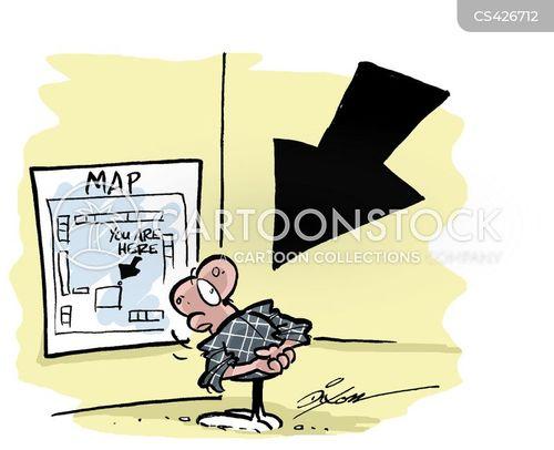 tourist maps cartoon