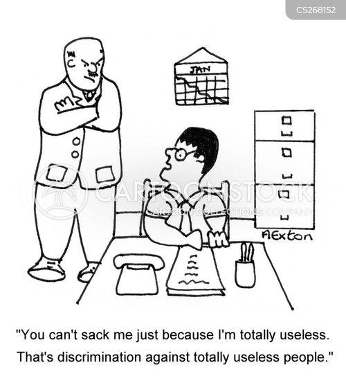 unfair dismissal cartoon