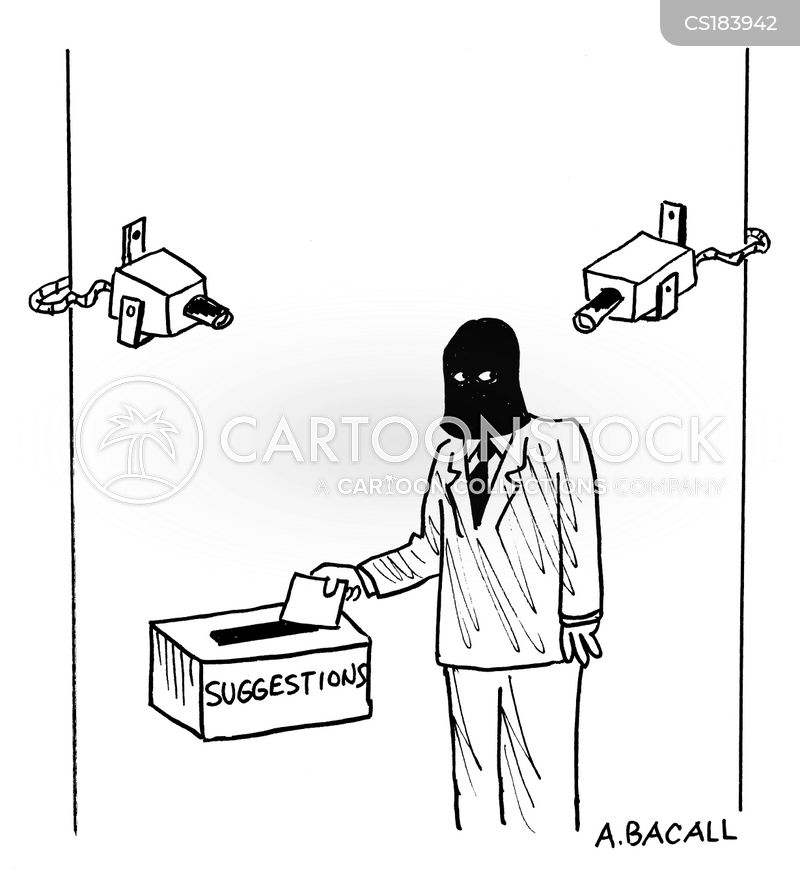 suggestion boxes cartoon