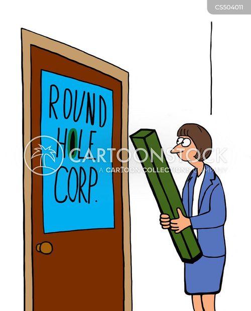 square peg cartoon