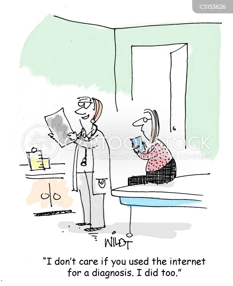 medical symptom cartoon