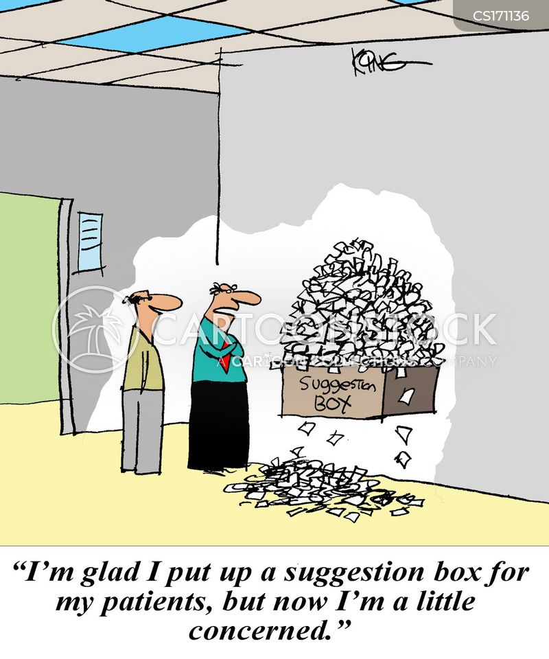 suggestion box cartoon