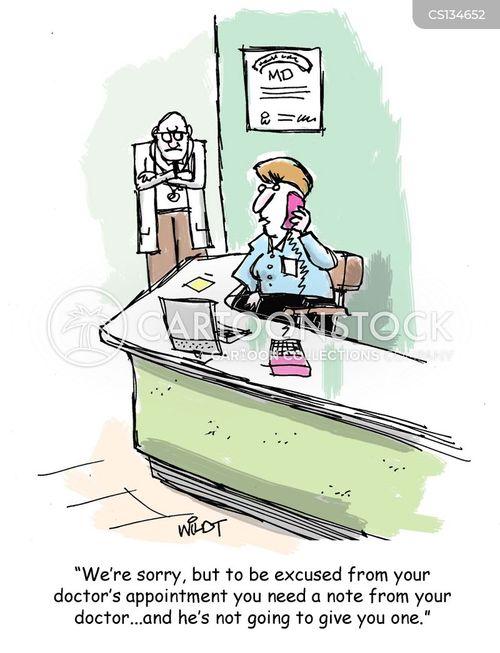 doctors note cartoon